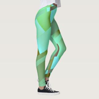 Modern Abstract Pastel Green Leggings