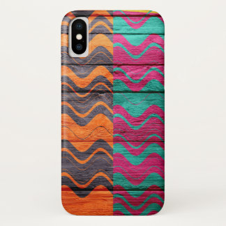 Modern Abstract Pastel Wood iPhone X Case