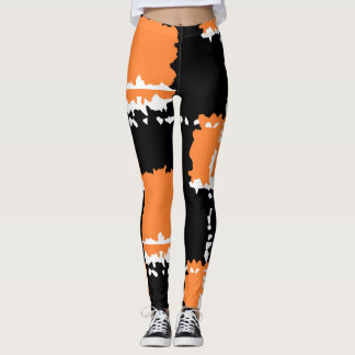 modern abstract patch design leggings