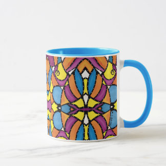Modern Abstract Pattern Blue Mug