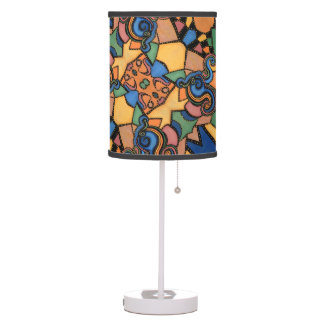 Modern Abstract Pattern Bright Colors Table Lamp