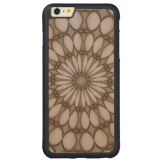 Modern abstract pattern carved maple iPhone 6 plus bumper case