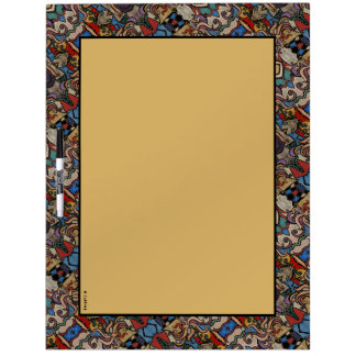 Modern Abstract Pattern Dry Erase Board