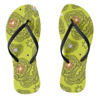 Modern abstract pattern Flip Flops. Flip Flops