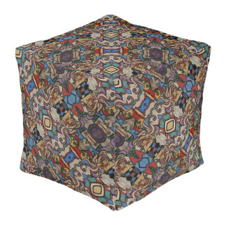 Modern Abstract Pattern M. Collins Pouf