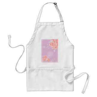 modern abstract pink floral girly fashion standard apron