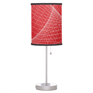 Modern abstract red white table lamp