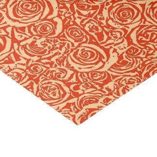 Modern Abstract Rose Pattern, Mandarin Orange Tissue Paper