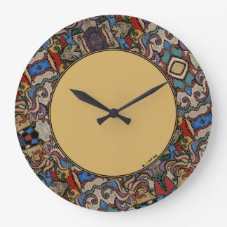 Modern Abstract Round Large Clock