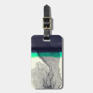 Modern Abstract Sea Coral Reef on Beach Background Luggage Tag