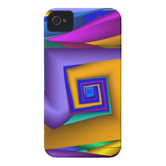 Modern abstract Square Spiral iPhone 4 case