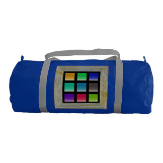 Modern Abstract Squares Pattern Gym Bag