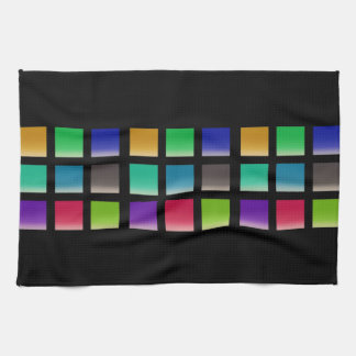 Modern Abstract Squares Pattern Kitchen Towel