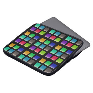 Modern Abstract Squares Pattern Laptop Sleeve