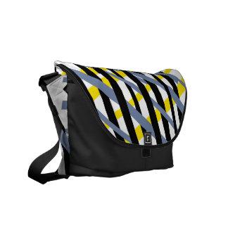 Modern abstract stripe pattern ybpgw commuter bags