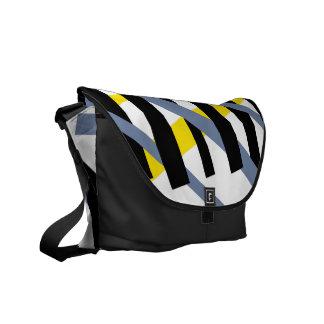 Modern abstract stripe pattern ybpgw messenger bag