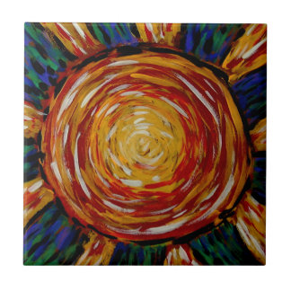 Modern Abstract Sunburst Tile