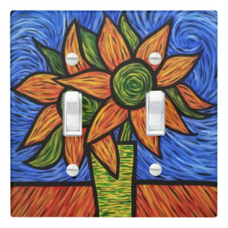 Modern Abstract Sunflowers Light Switch Cover