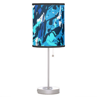 Modern abstract table lamp in sprayed style