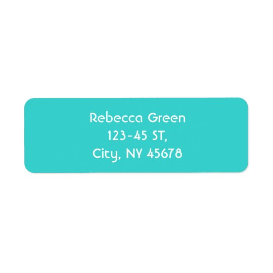 modern abstract teal blue love turquoise return address label