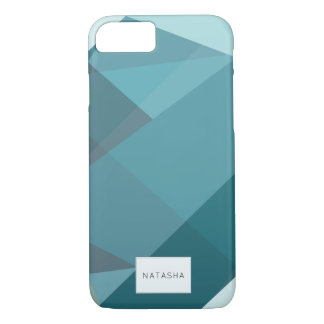Modern, Abstract Teal iPhone 7 Case