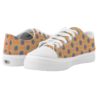 Modern abstract trendy pattern Low-Top sneakers