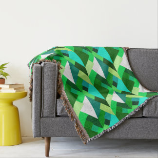Mid century modern throw blankets mid century modern - Emerald green throw blanket ...