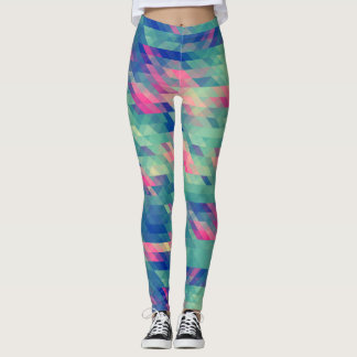 Modern Abstract Triangles Geometric Leggings