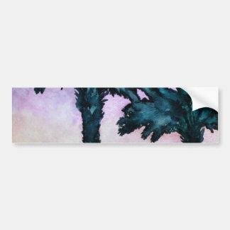 modern abstract tropical art gift bumper sticker