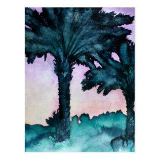 modern abstract tropical art gift postcard