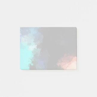 Modern Abstract Turquoise Orange and Black Colors Post-it Notes