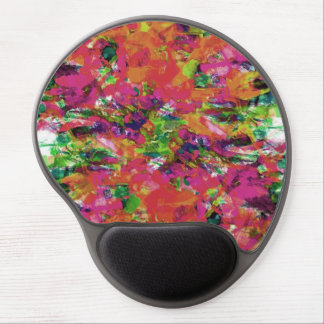 Modern abstract watercolor brushstrokes pattern gel mouse pad
