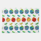 Modern abstract watercolor floral pattern kitchen towel