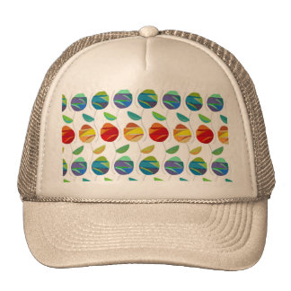 Modern abstract watercolor floral pattern trucker hat