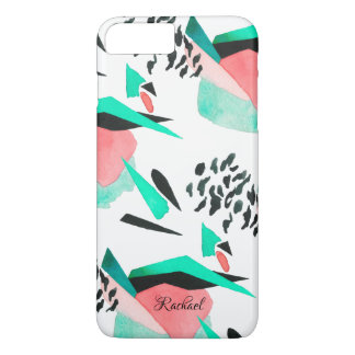 Modern Abstract Watercolor Pattern with Your Name Case-Mate iPhone Case