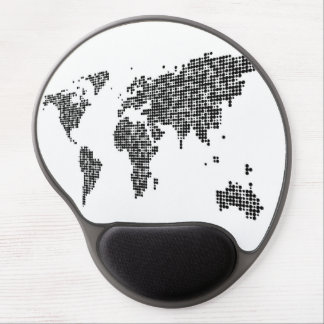 Modern Abstract World Map Gel Mouse Pad