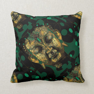 Modern Abstracted Green Buddha Design By Sharles Throw Pillow