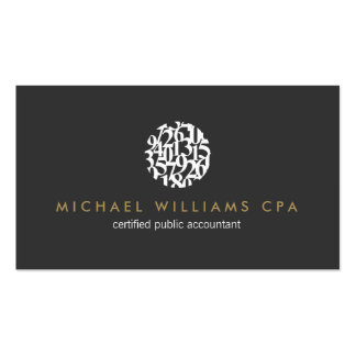 Modern Accountant, Accounting Business Card