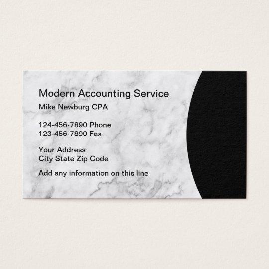 Modern Accountant Classy Design Business Card