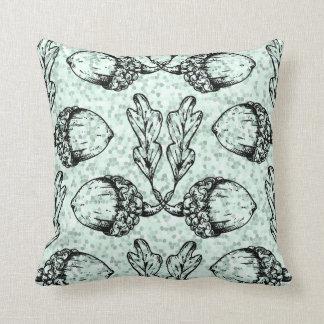 Modern Acorn Pattern Design Throw Pillow