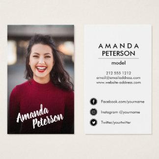 Modern Actor Model Dancer Photo Social Media Icons Business Card