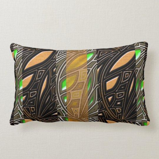 Modern African Abstract Motif Lumbar Pillow