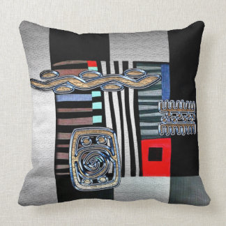 Modern African Design Throw Pillow