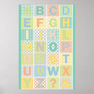 Modern Alphabet Poster
