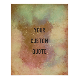 Modern Ambient Cool Look Personalized Quote Print