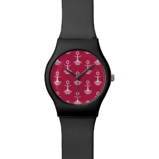 Modern Anchors Pattern Wrist Watches
