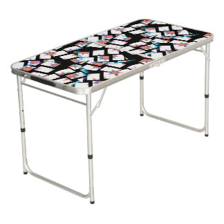modern and abstract background beer pong table