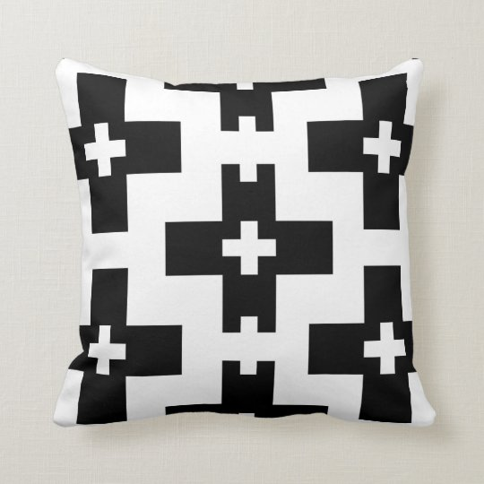 Modern and bold throw pillow