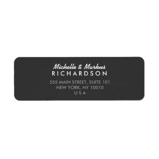 MODERN and CLASSIC Dark Gray Address Label