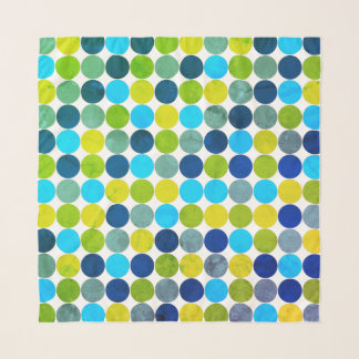Modern and Colorful Polka Dot Pattern Scarf